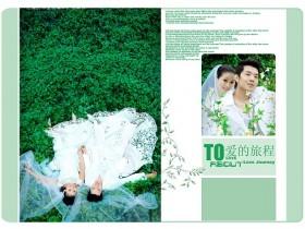 婚纱模板psd免费下载:爱之旅程