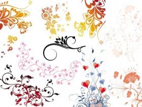 photoshop花纹素材:12套韩国时尚花纹图案素材模板