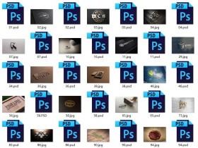 80多款photoshop logo字体PSD源文件