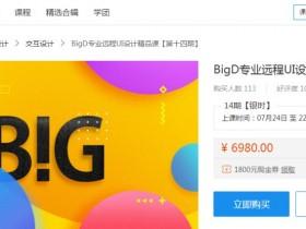 BigD远程UI设计精品课_BigD牛魔王UI设计视频教程
