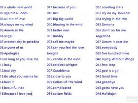英文歌曲学英语,150首听歌学英语mp3下载