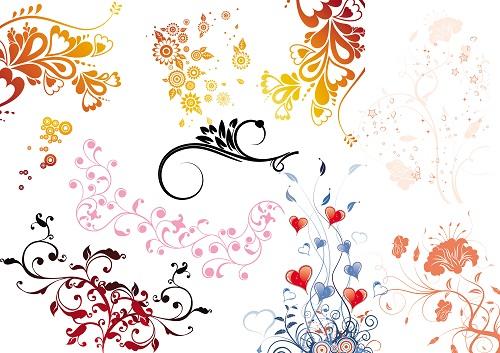 韩国时尚花纹图案素材模板