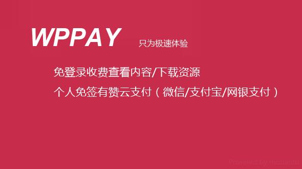 wordpress免登录付费查看内容,付费下载资源插件WPPAYv1.1